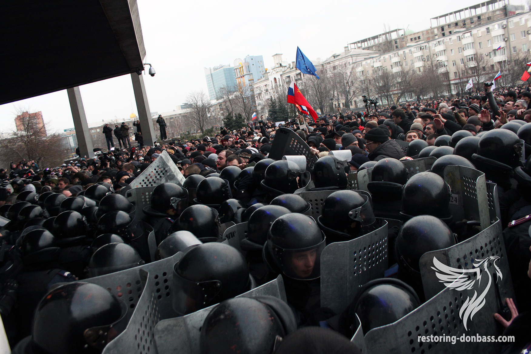 The assault on the Donetsk Regional State Administration by pro-Russian protesters, March 5, 2014