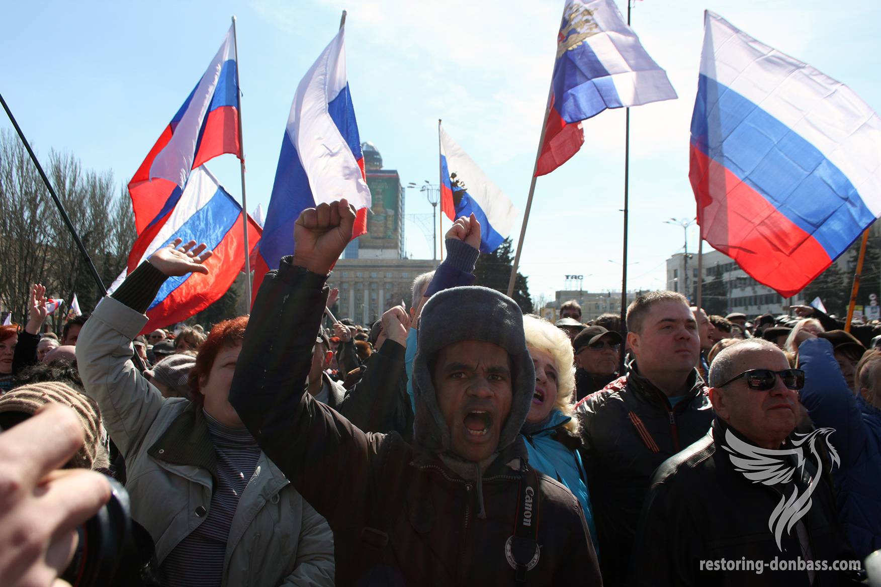 Rally on Lenin Square in Donetsk, March 22, 2014