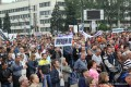 Anti-war miners rally in Donetsk June 18, 2014