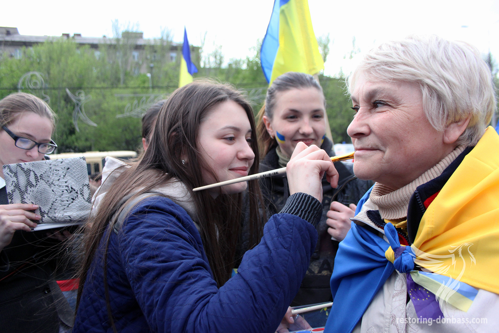The beginning of the rally for the unity of Ukraine, April 28, 2014