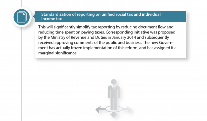 Standardization of reporting on unified social tax and individual income tax