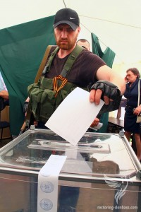 Voting for the sovereignty of the DNR, May 11, 2014