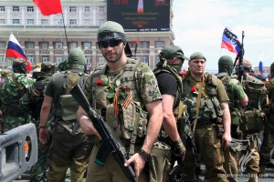"""Rally in memory of """"Vostok"""" soldiers, May 25, 2014"""