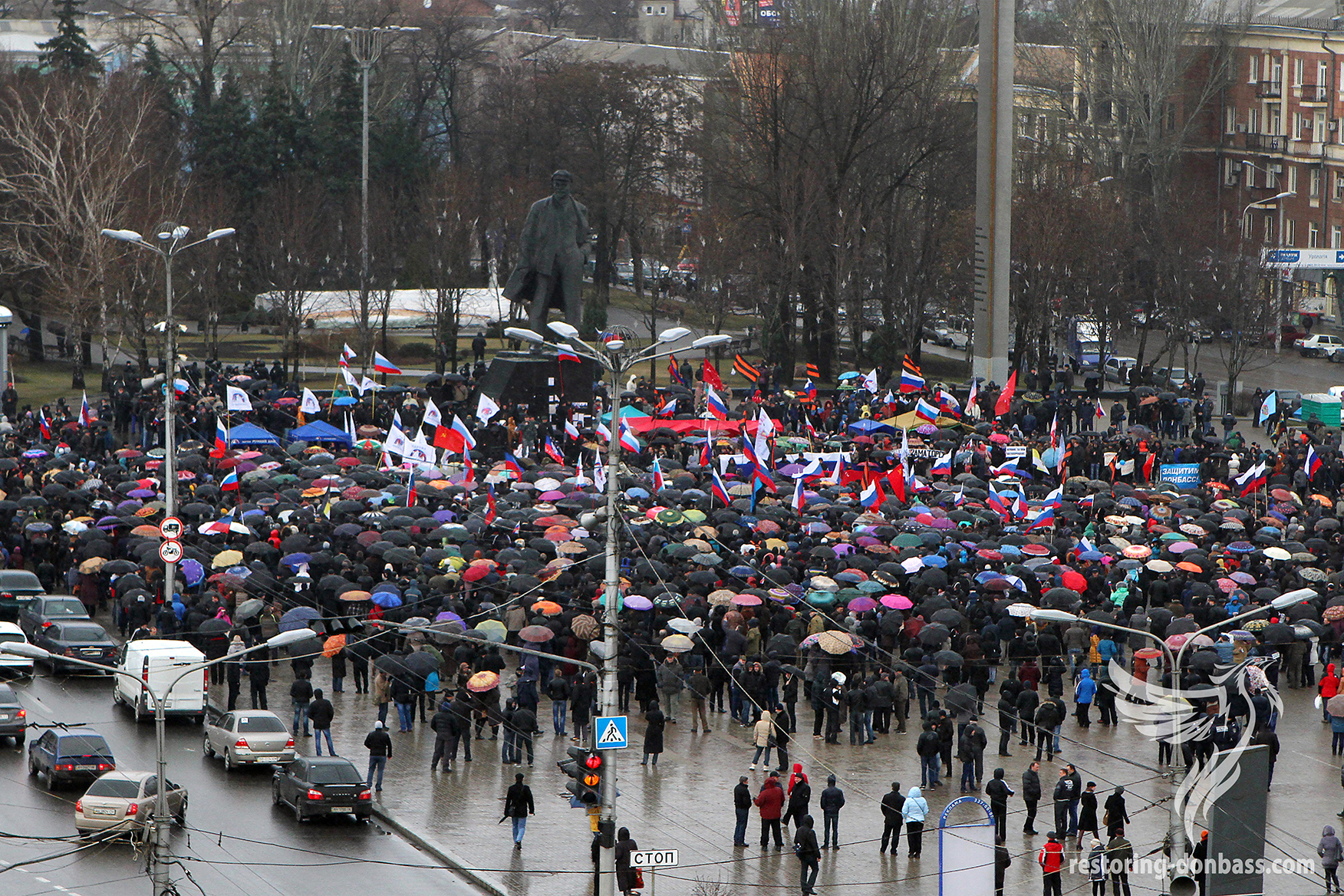 Rally in support of the Crimean referendum, March 16, 2014