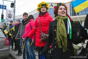 The chain of unity in Donetsk, April 12, 2014