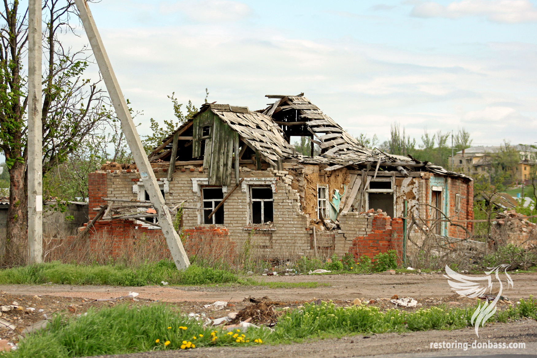 Semyonovka village a year after the beginning of hostilities, May 15, 2015 2015