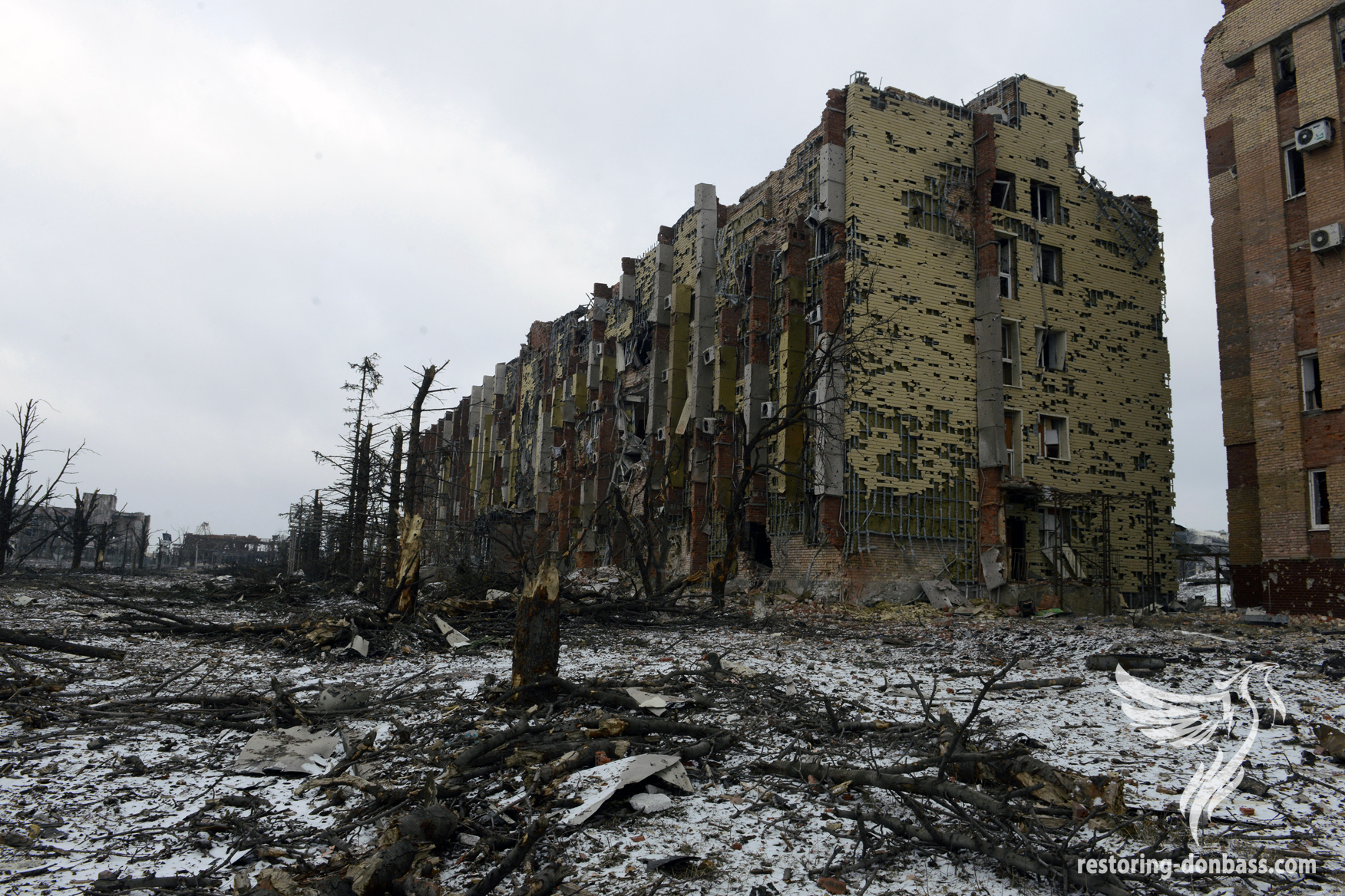 "Hotel of the airport ""Donetsk"", February 16, 2015"