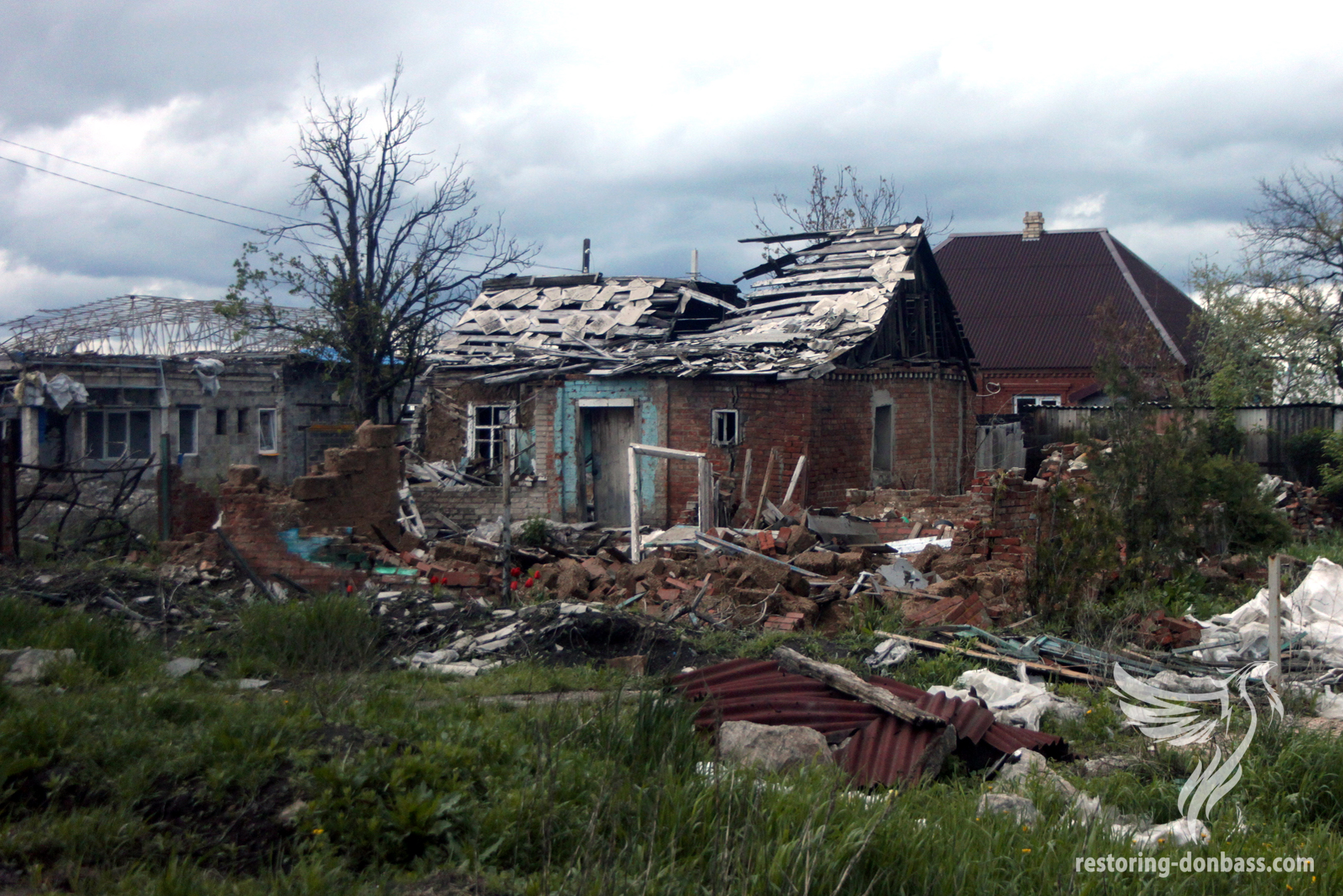Semyonovka village a year after the beginning of hostilities, May 15, 2015