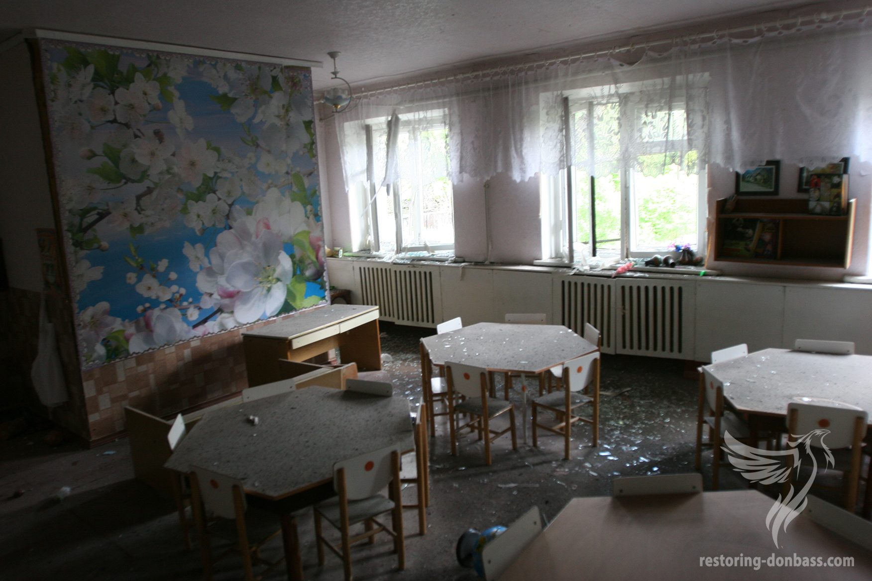 Result of kindergarten's shelling in Donetsk, May 3, 2015