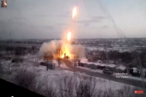 Ukraine War 2015 – Massive Grad Rocket Launch in City | War in Donbass