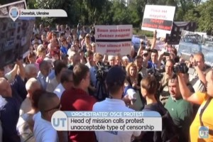 "Anti-OSCE Protest: Head of monitoring mission calls demonstration ""orchestrated"""