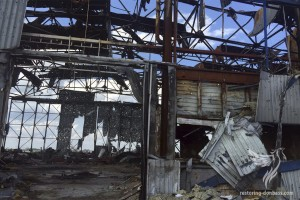 Hangars of Donetsk airport, July 1, 2015