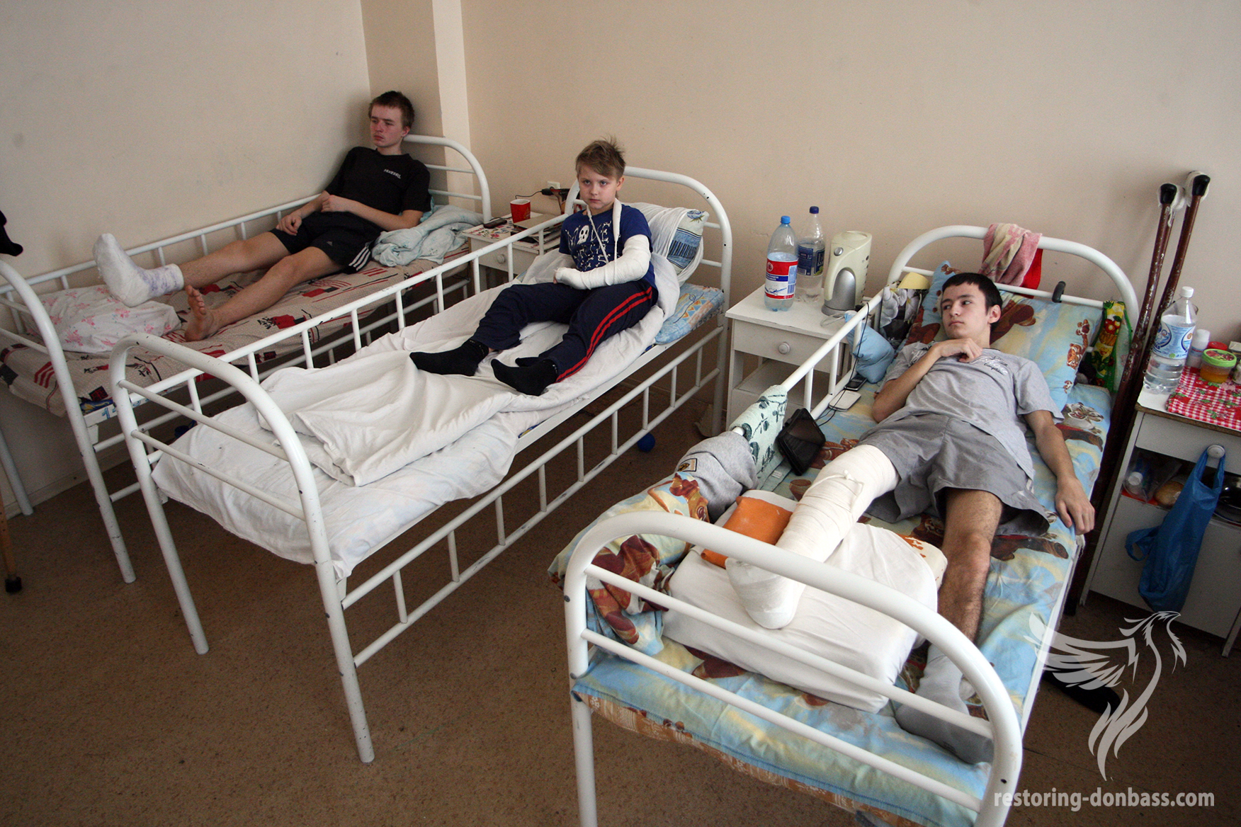 Donetsk Traumatology. Children, who came under fire, March 14, 2015
