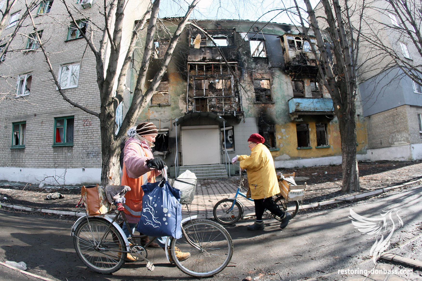 Debaltsevo after hostilities, March 6, 2015