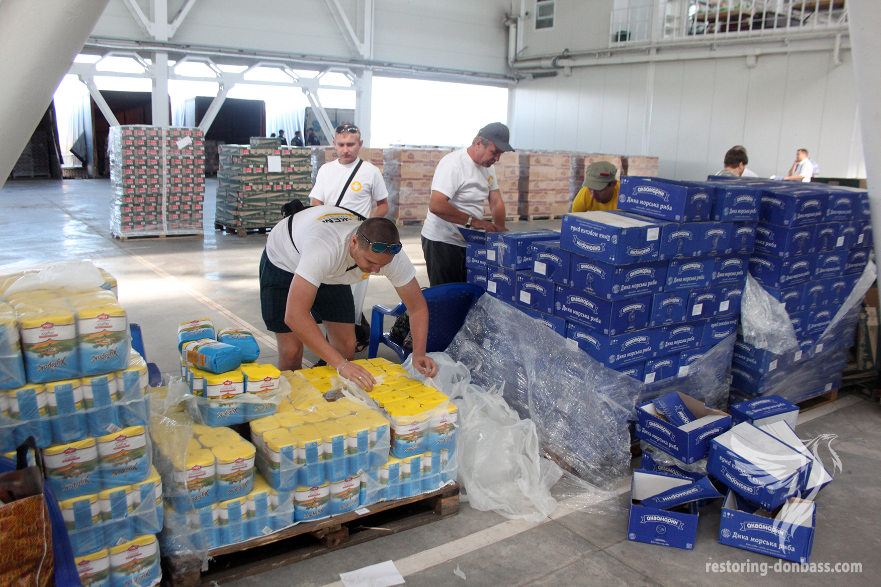 Formation of humanitarian aid for Donbas residents, August 28, 2014