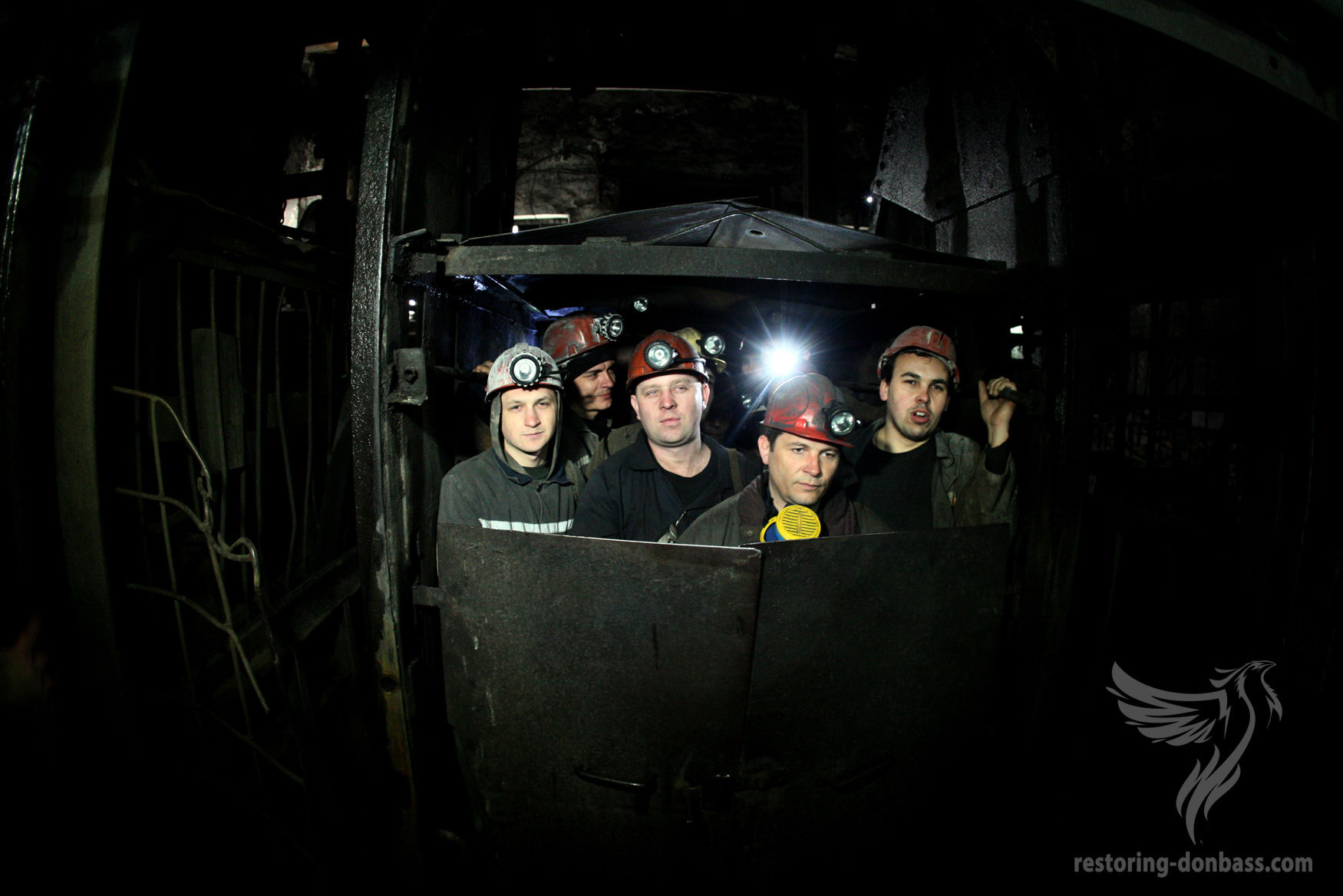 Miners of Makeyevka at work, March 31, 2015