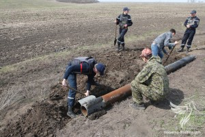 Mine clearance of agricultural fields in Donbas, March 27, 2015