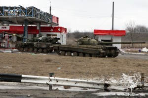 Petrol station near the Gorlivka, March 17, 2015