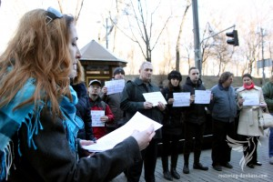 Rally of the displaced people in front of The Cabinet of Ministers, March 23, 2015