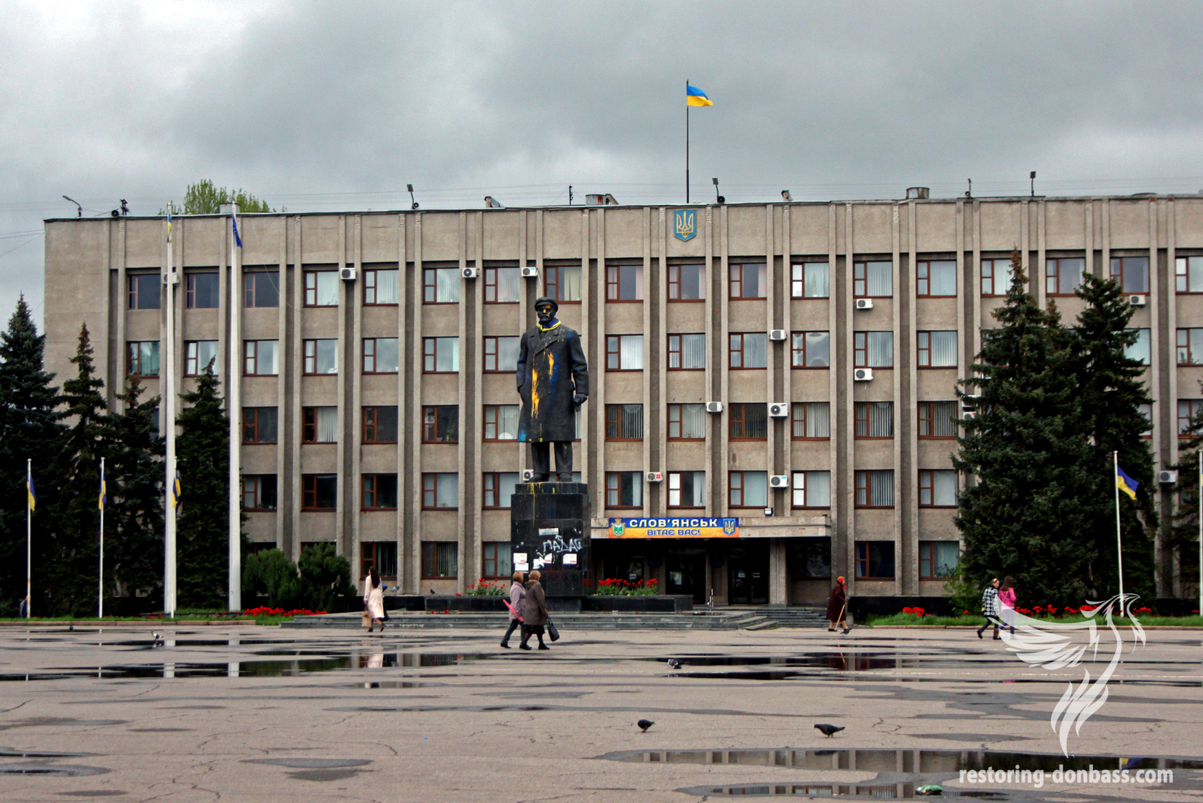 Slavyansk, a year after the beginning of hostilities, May 15, 2015