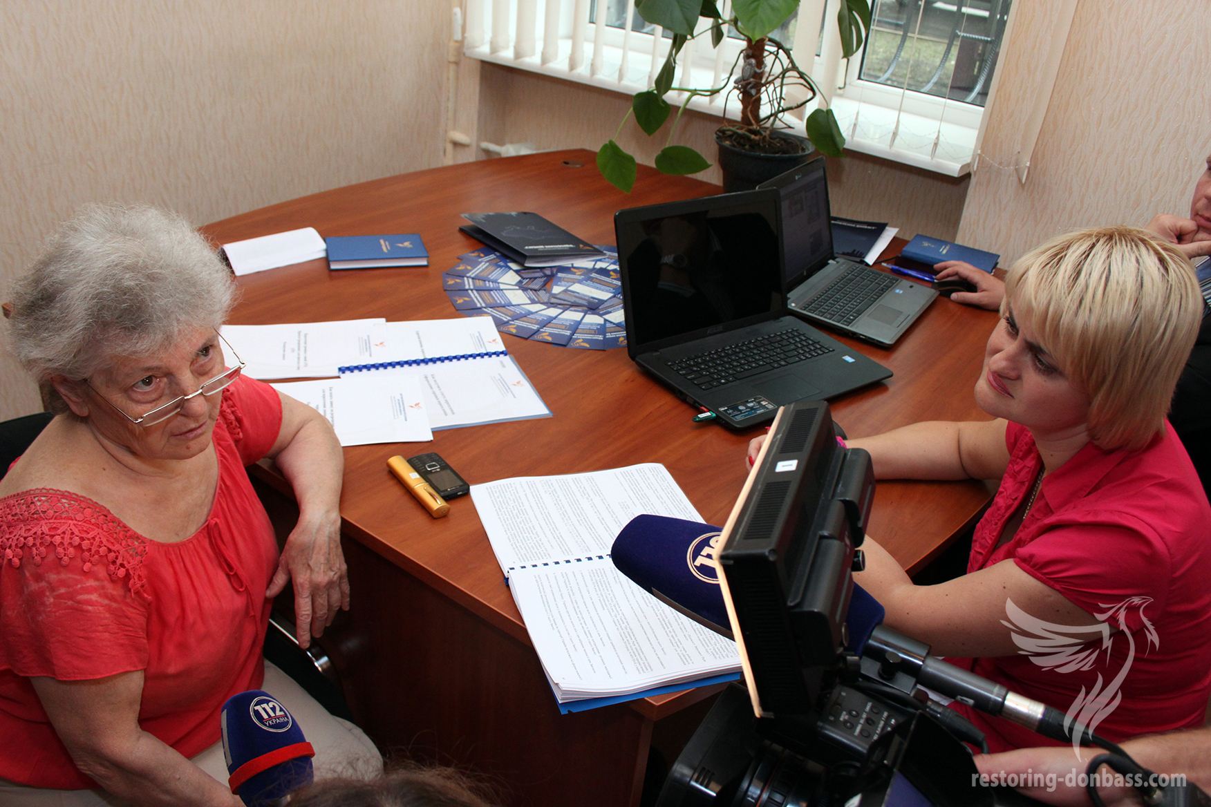 "Internally displaced person is getting advice from lawyers of ""Restoring of Donbass"""