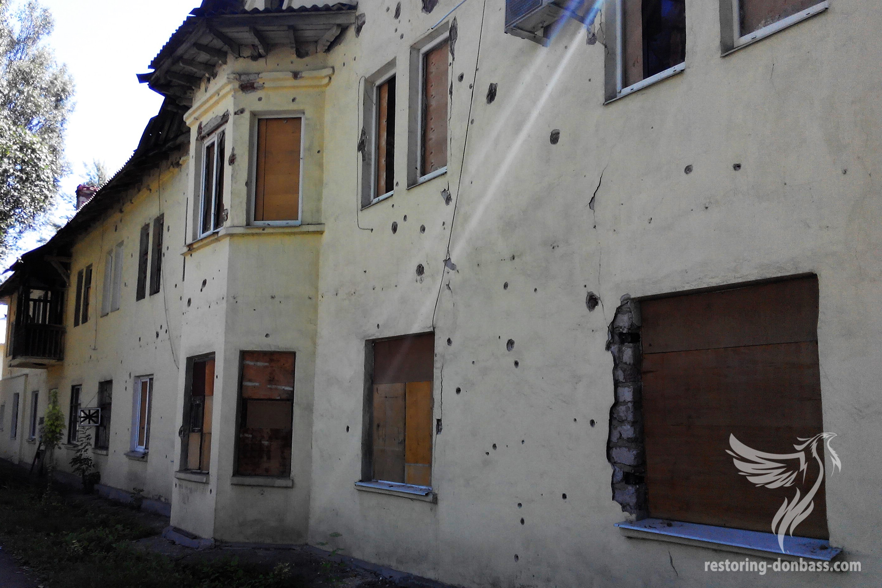 A house in the center of the Petrovsky district of Donetsk.
