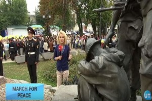 March For Peace: Ukrainians mark International Peace Day with symbolic march between war memorials