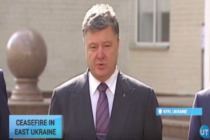 Week of Ceasefire in Ukraine: President Poroshenko says less shelling in east regions