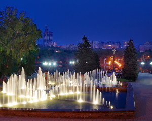 Evening fountain. Hudoyarov Sergey