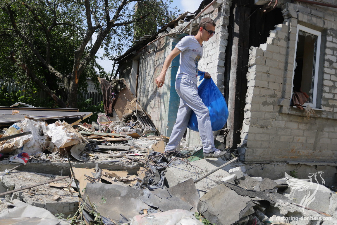 Results of private sector shelling in Gorlovka, on August 18, 2015