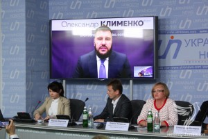 The founder of the initiative Olexandr Klymenko is online by Skype conference