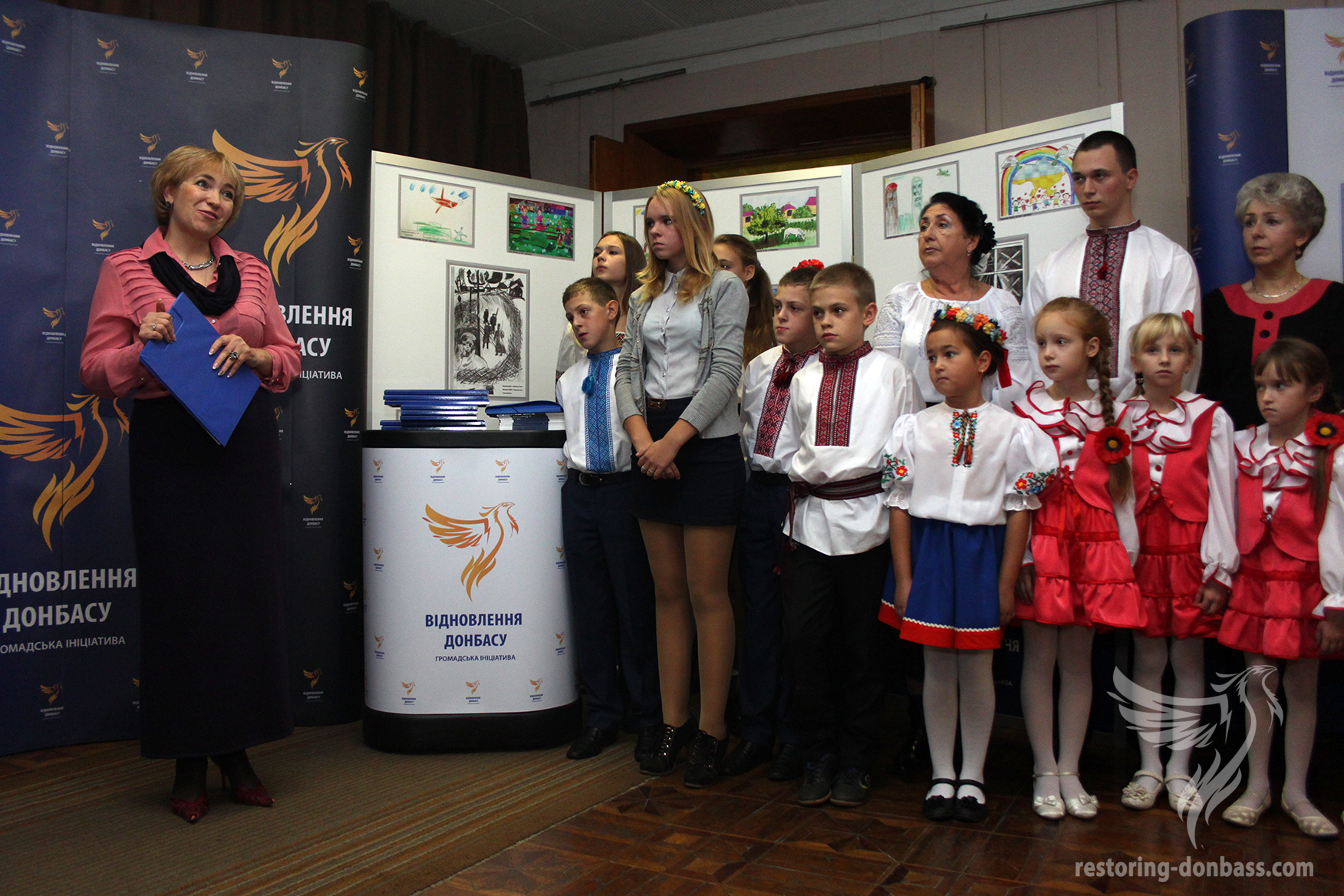 "The Zhytomyr exhibition of drawings ""Peace and War through the eyes of Donbas children"""