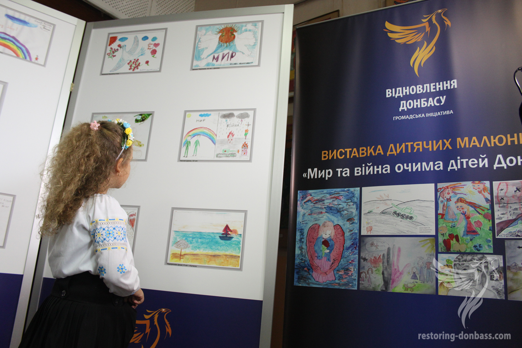 Pupil of the Zhytomyr center of children's creativity and youth is looking contest works