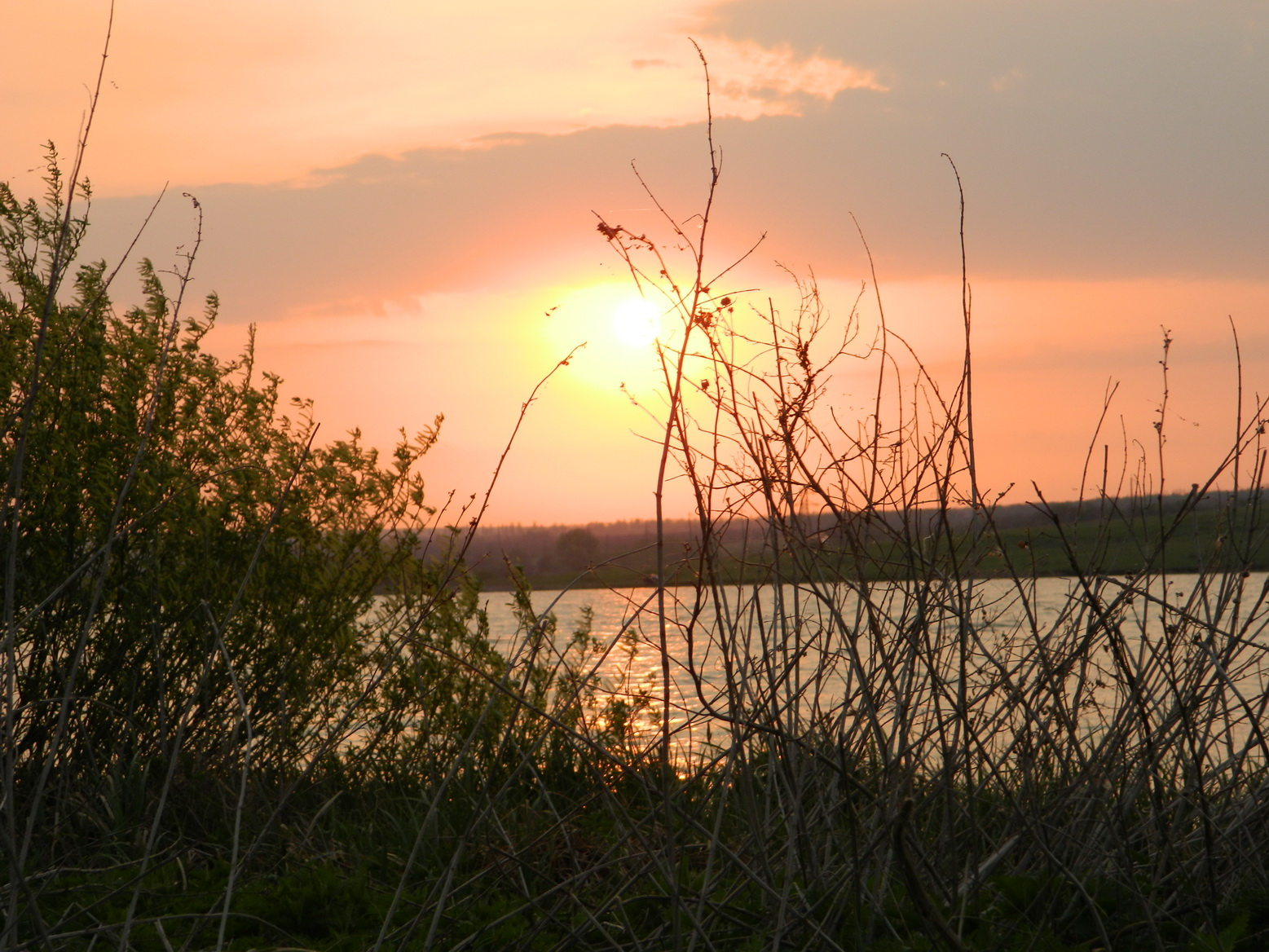 Sunset on the Karlovsky reservoir. Anna Dudko