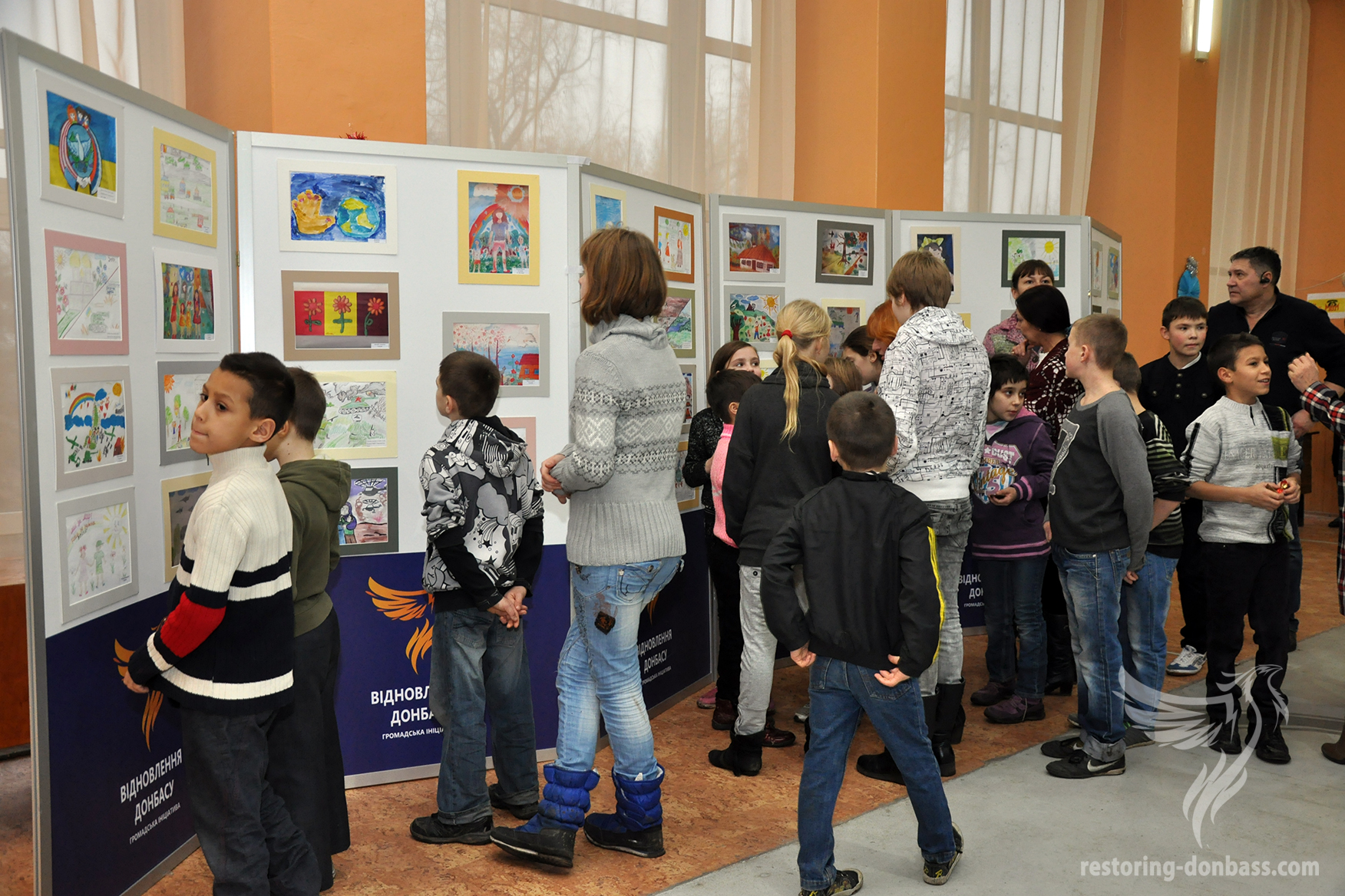 Guests of the Kramatorsk exhibition
