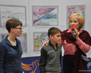 """""""Peace and war through the eyes of Donbas children"""" winners' speach at the exhibition in Kramatorsk"""