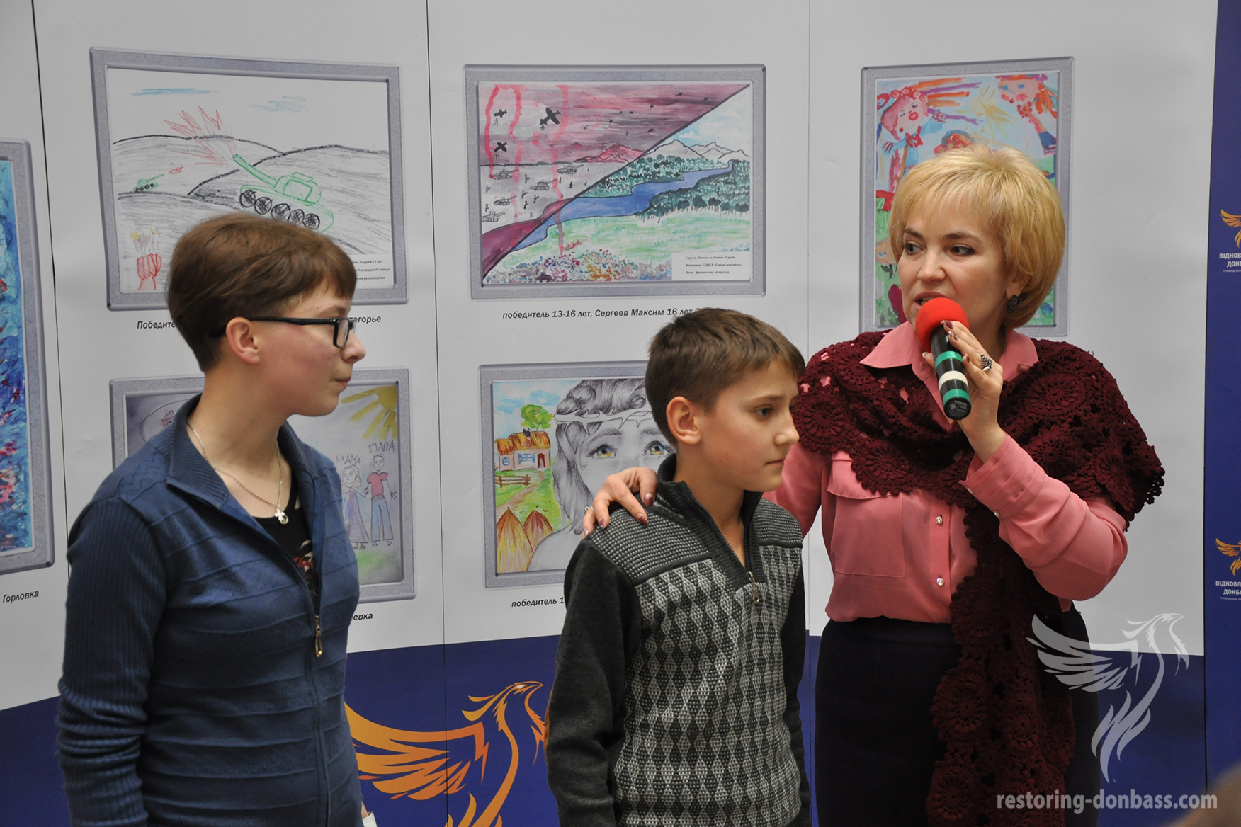 """Peace and war through the eyes of Donbas children"" winners' speach at the exhibition in Kramatorsk"