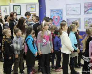 Presentation of the Peace and war through the eyes of Donbas children exhibition in Sumy