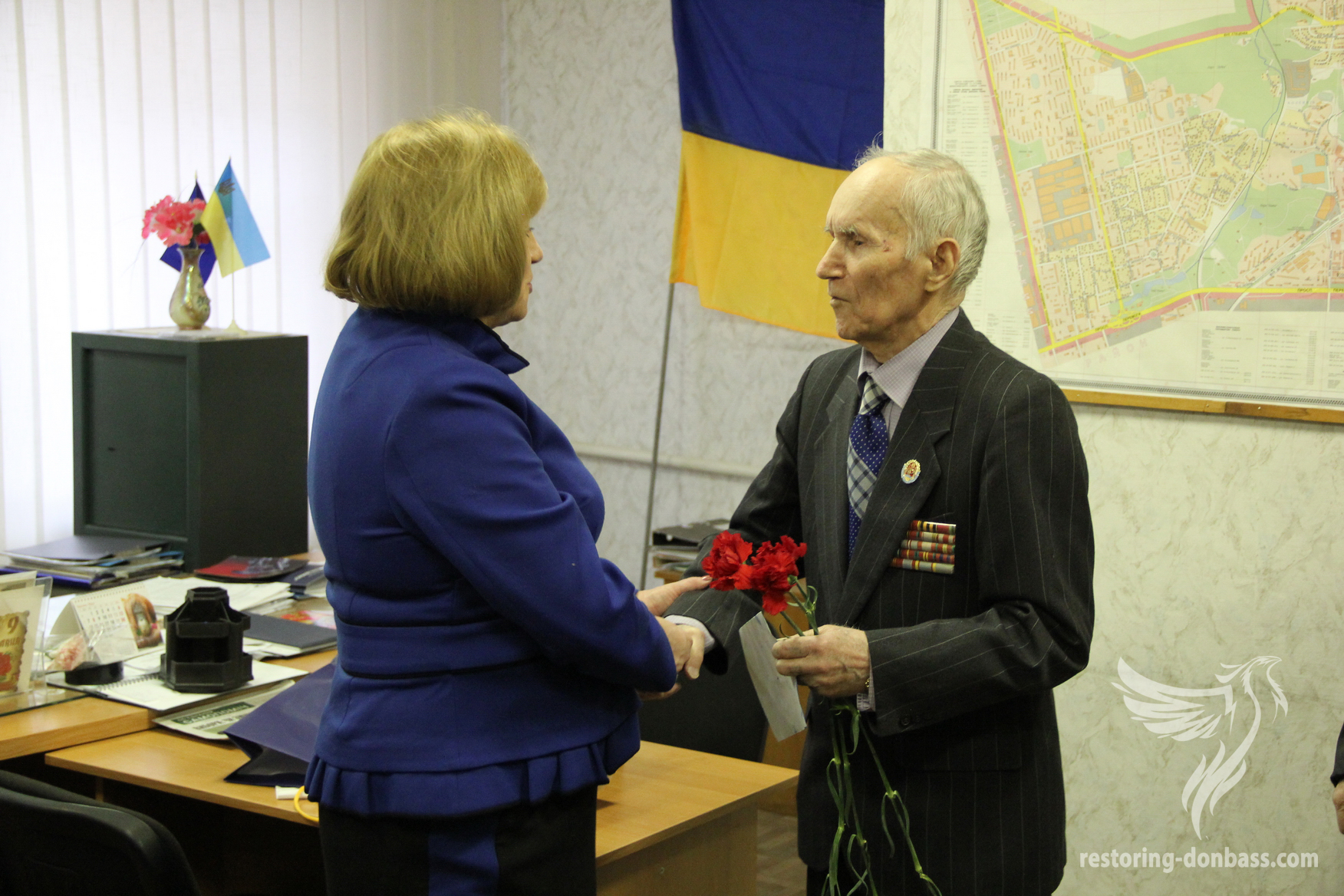 Restoring Donbas visited Kiev veterans of war and work
