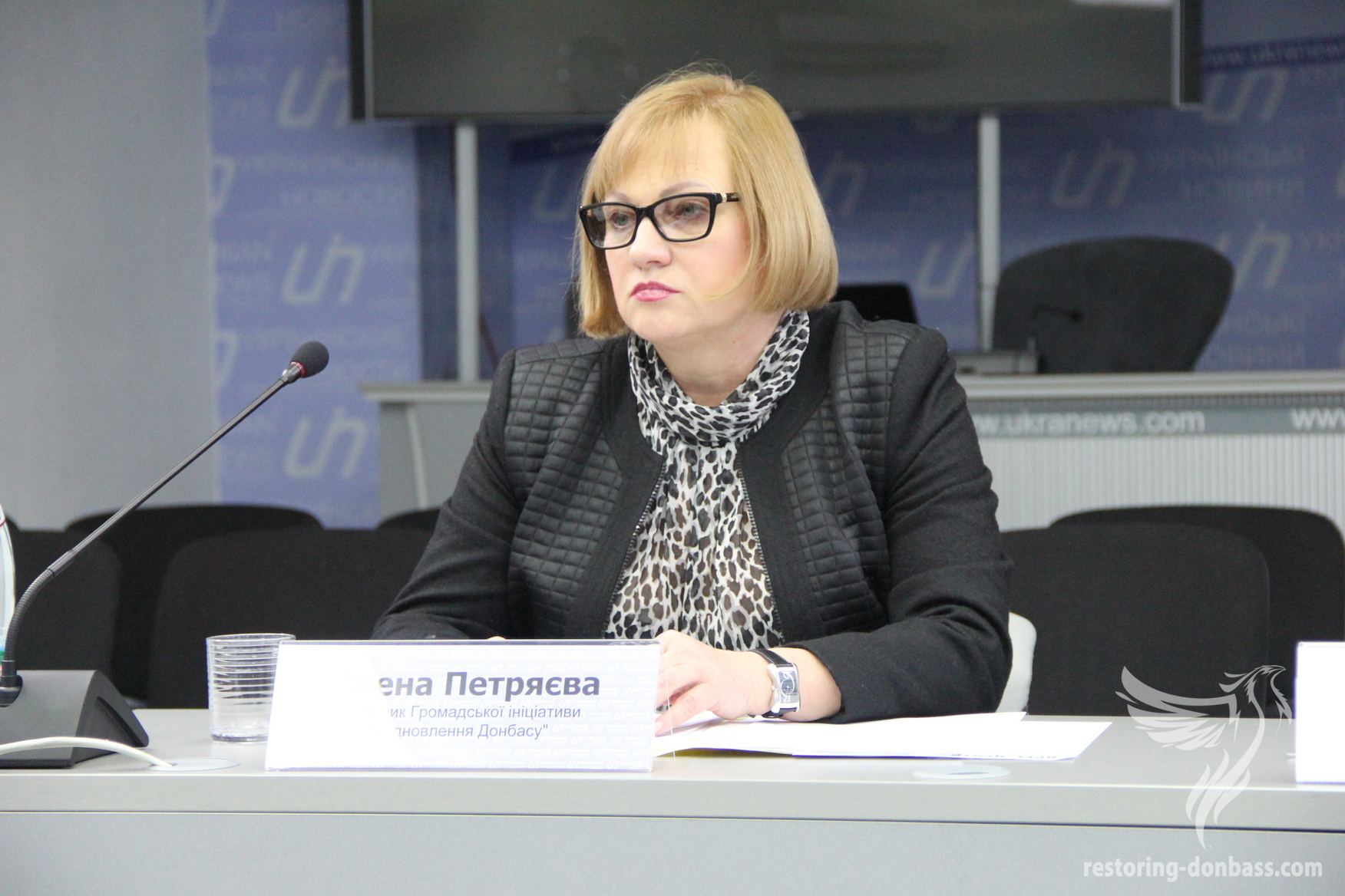 The head of the Initiative Elena Petryaeva made a presentation at the round table dedicated to mine safety