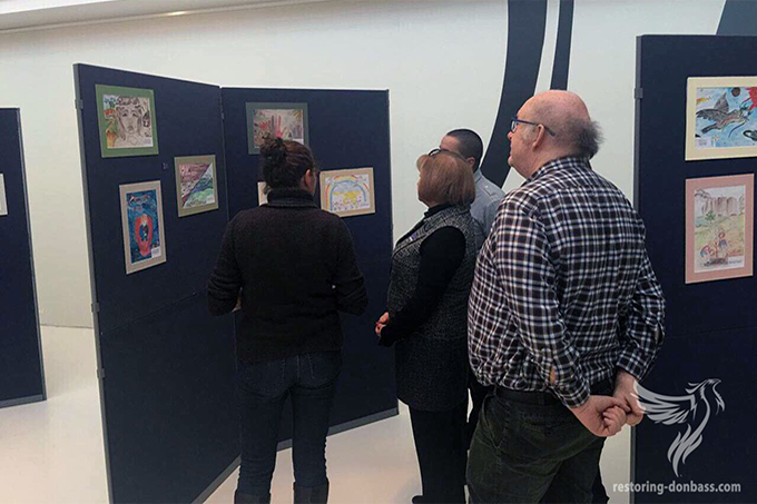"In Brussels was opened the exhibition ""Peace and war through the eyes of Donbas children"""