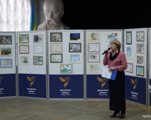Opening of the children's drawings exhibition in the Taras Shevchenko Art school