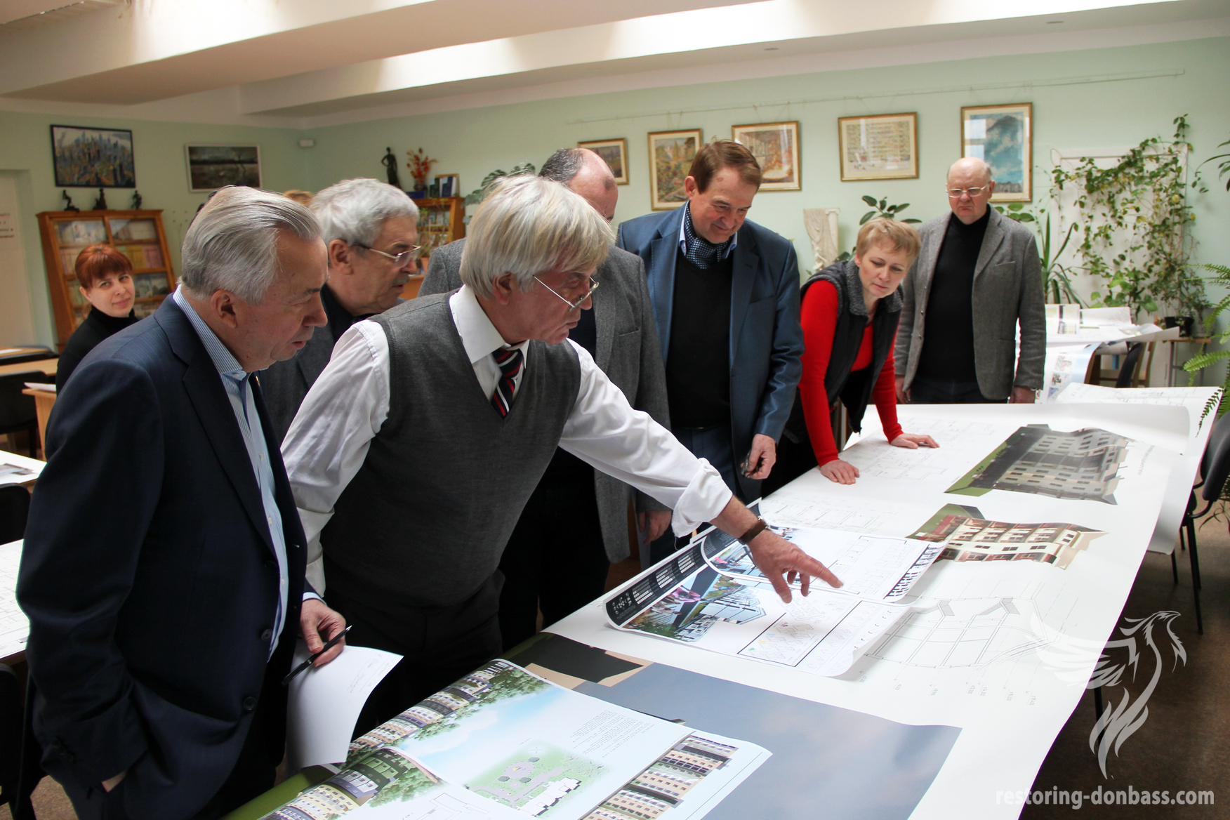 "Jury of an architectural competition ""Restore Donbass together"" is choosing the winner projects"