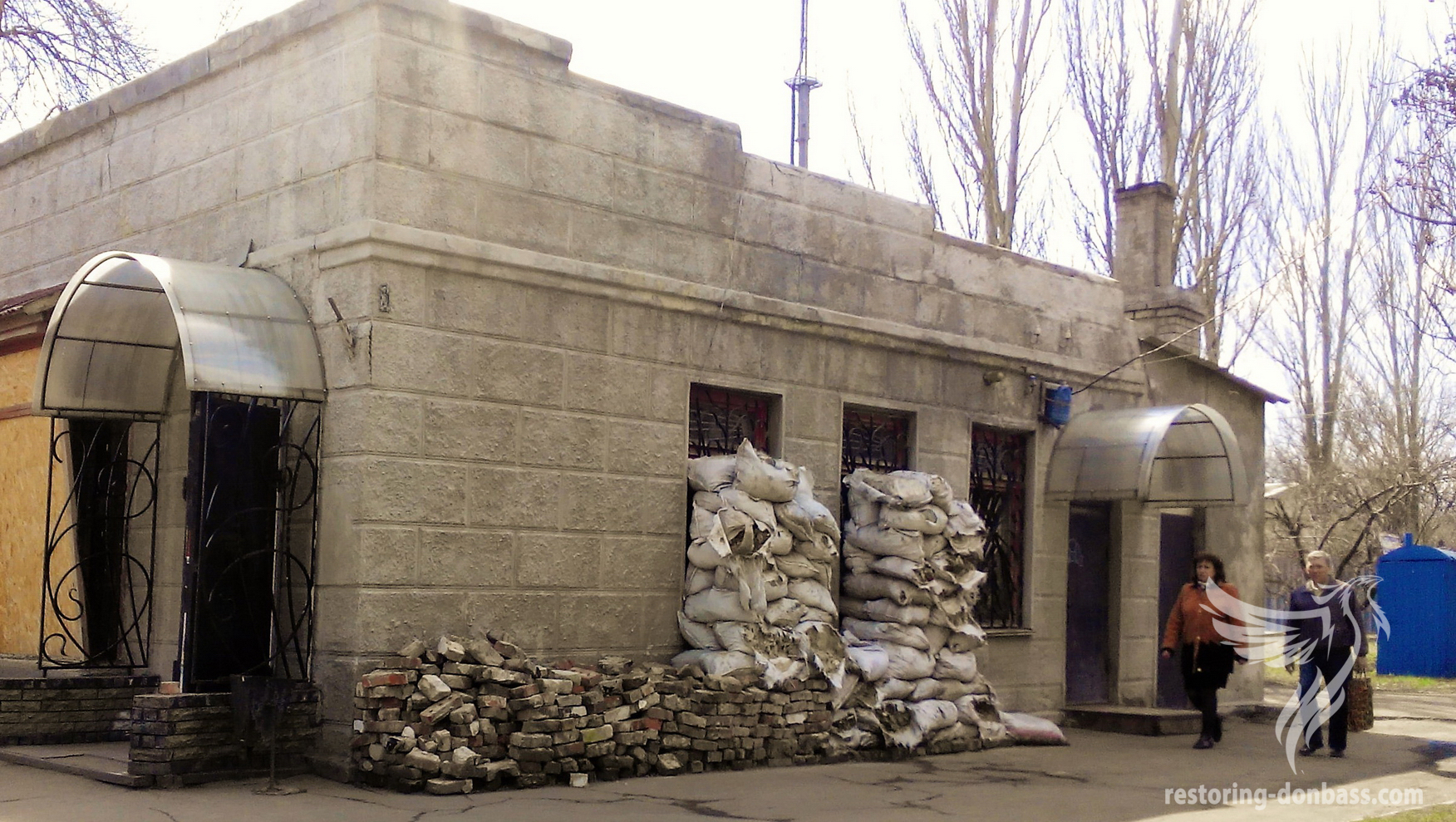 Idle shop, Donetsk, district Petrovsky, April, 2016