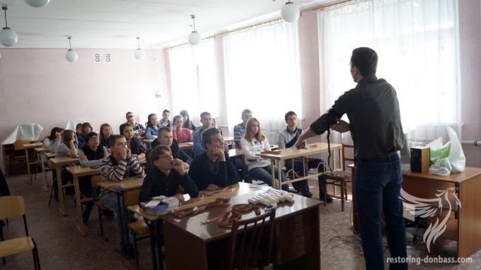 In a gray zone of Donbas took place the first training on mine safety