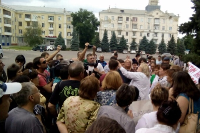 IDPs protested in Kramatorsk