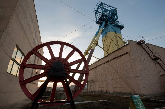 Miners' strike in Donetsk region