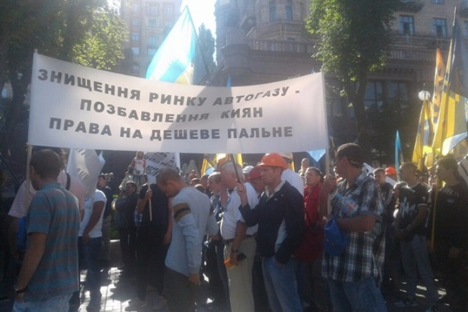 Miners striking in Kyiv demand to pay arrears of wages