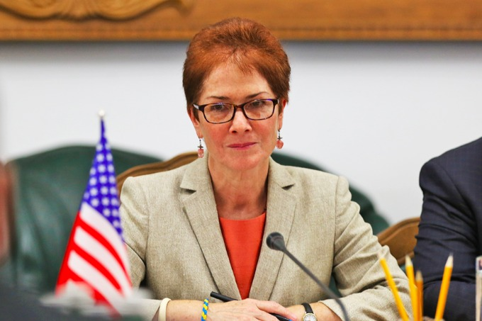 US Ambassador Marie L. Yovanovitch in Ukraine believes there is no military solution to the conflict in Donbas