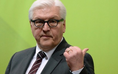 Frank-Walter Steinmeier welcomed the statement on the ceasefire in Donbas
